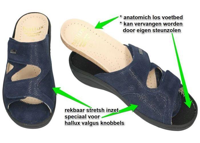 Fidelio Hallux 434113 (F½) slippers & muiltjes blauw donker