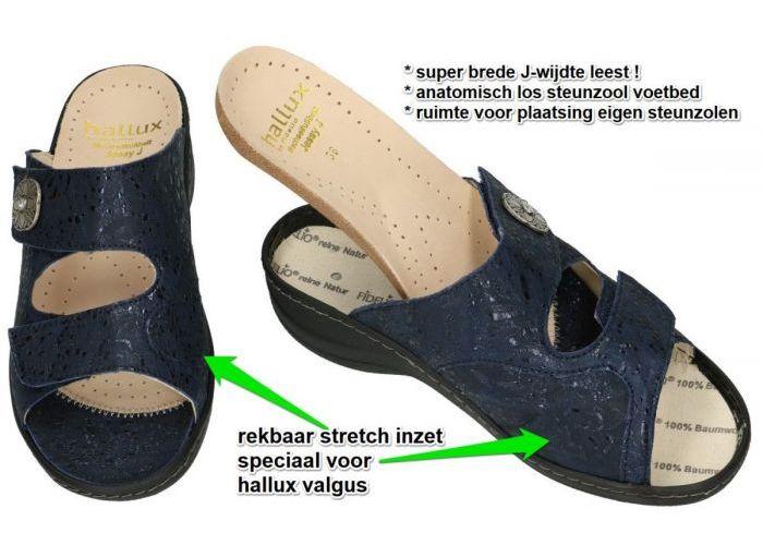 Fidelio Hallux 45003 HALLUX JESSY (J) slippers & muiltjes blauw donker