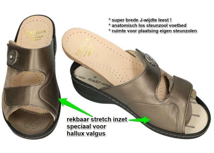 Fidelio Hallux 456003 JESSY (J) slippers & muiltjes brons