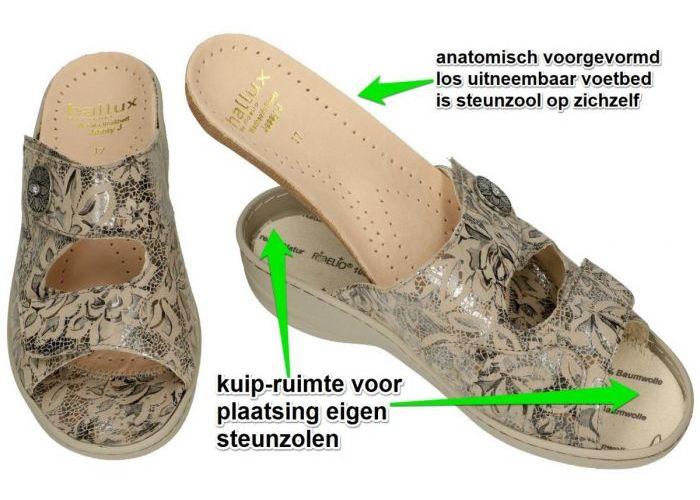 Fidelio Hallux 456003 HALLUX JESSY J slippers & muiltjes taupe