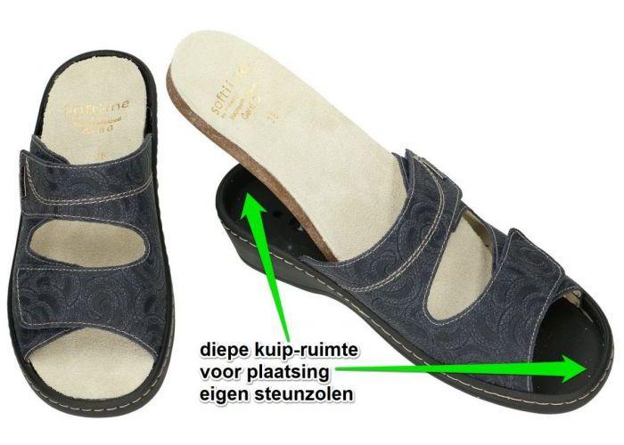 Fidelio Hallux 225001 Soft-Line GERTI (G) slippers & muiltjes blauw donker