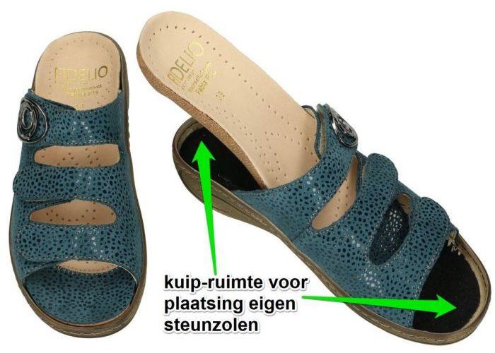 Fidelio Hallux 434034 FIDELIO FABIA F½ slippers & muiltjes blauw petrol