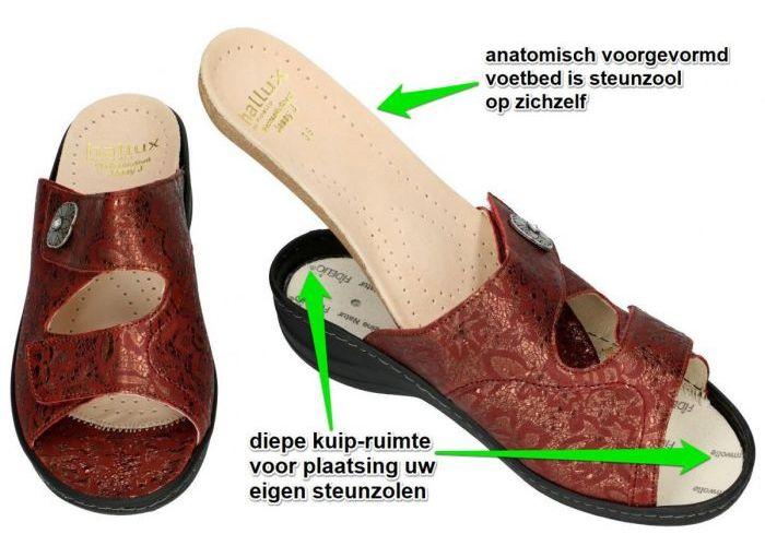 Fidelio Hallux 456003 HALLUX JESSY J slippers & muiltjes bordeaux