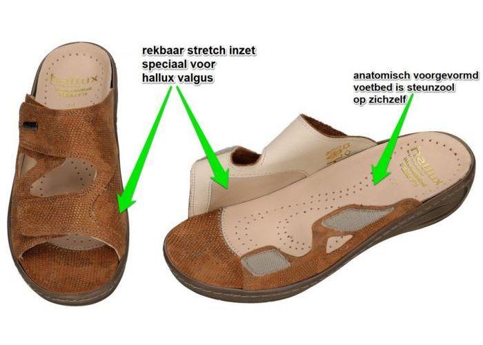 Fidelio Hallux 434113 HALLUX FABIA F½ slippers & muiltjes bruin
