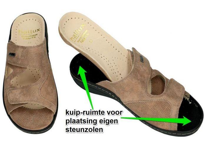 Fidelio Hallux 434113 HALLUX FABIA F½ slippers & muiltjes camel