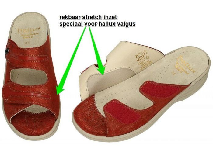 Fidelio Hallux 236023 HALLUX HEDI H½ slippers & muiltjes roest (bruin-rood)