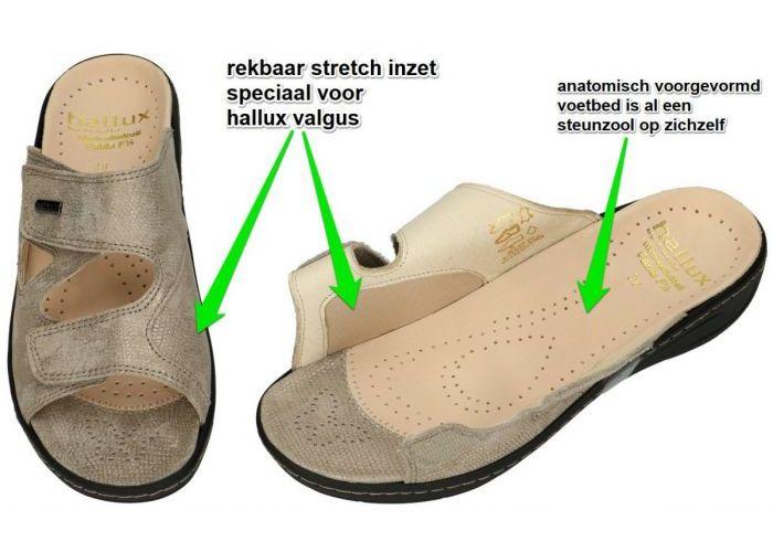 Fidelio Hallux 434113 HALLUX FABIA F½ slippers & muiltjes taupe