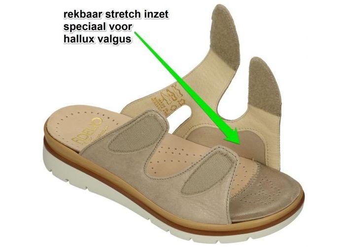 Fidelio Hallux 595020 HALLUX GLORY G slippers & muiltjes taupe