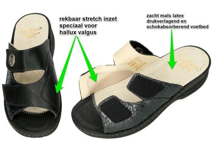 Fidelio Hallux 236031 HALLUX HEDI (H) slippers & muiltjes zwart