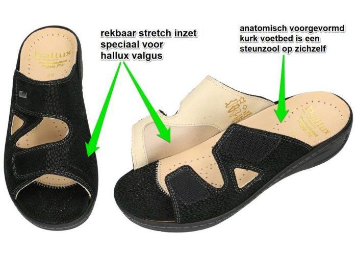 Fidelio Hallux 434113 HALLUX FABIA (F½) slippers & muiltjes zwart