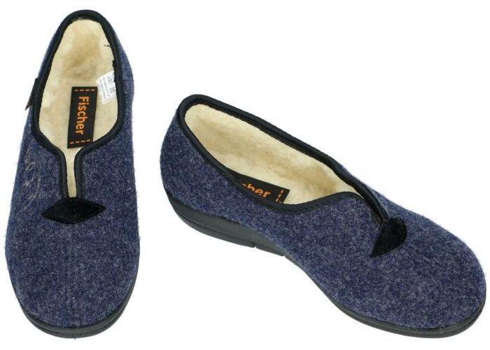 Fischer 203528 pantoffels blauw