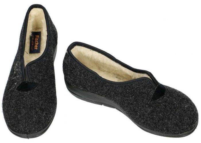 Fischer 203528 pantoffels grijs  donker