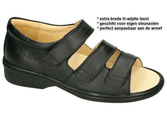 Fischer 19175 sandalen zwart