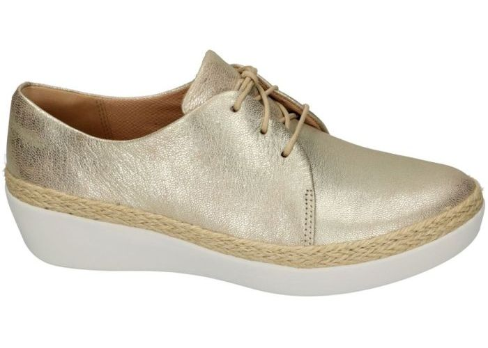 Damesschoenen Fitflop SNEAKER-SPORTIEF K95-527 SUPERDERBY lace-up Goud