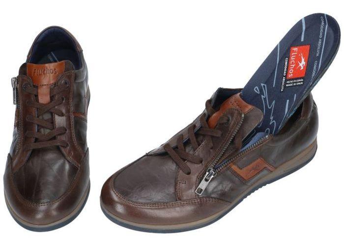 Fluchos F0210 habana plisé casual schoenen bruin donker