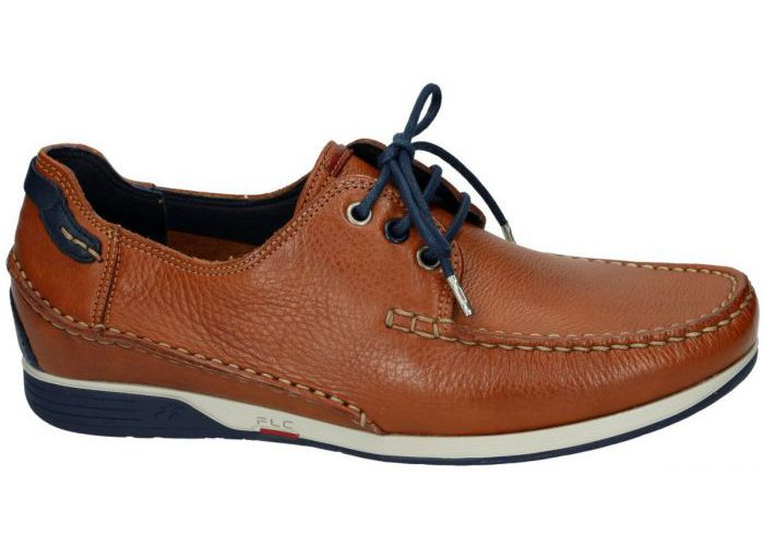 Herenschoenen Fluchos CASUAL / WEEKEND 9123 Cognac/caramel