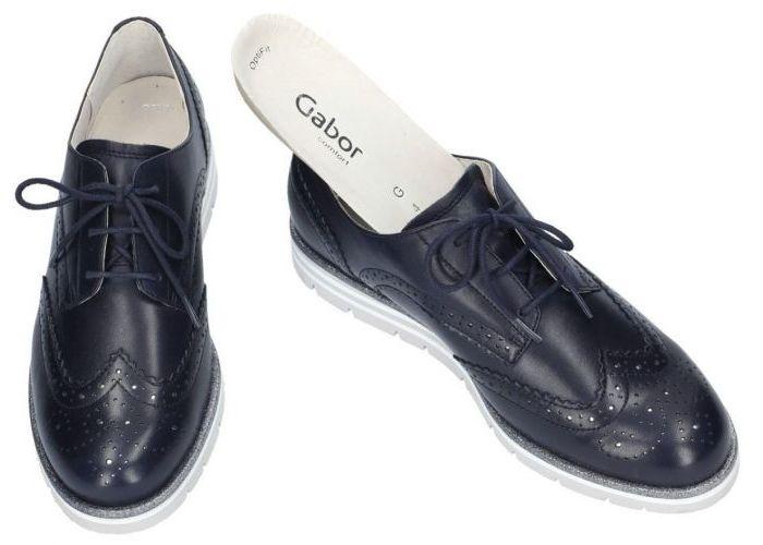 Gabor 82.558.56 lage gesloten schoenen blauw donker