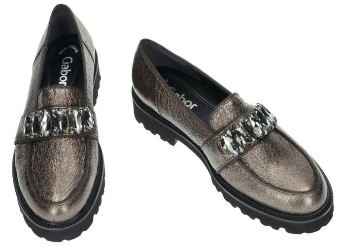 Gabor 8866 mocassins - loafers brons