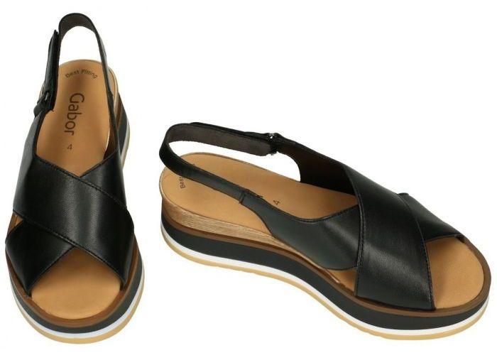 Gabor 64.683.27 sandalen zwart