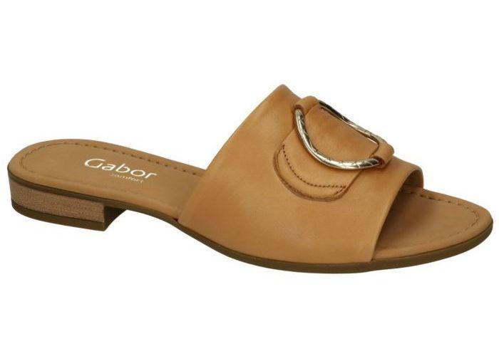 Damesschoenen Gabor SLIPPERS & MUILTJES 62.795.52 Camel