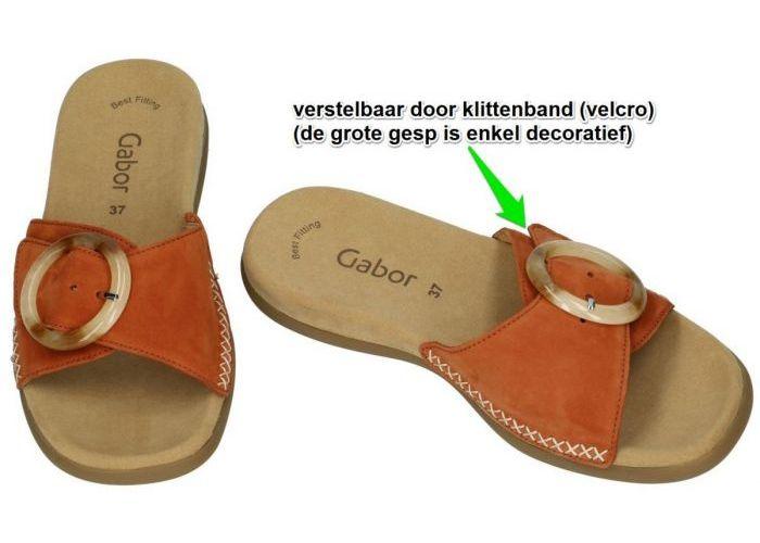 Gabor 63.701.15 slippers & muiltjes terracotta