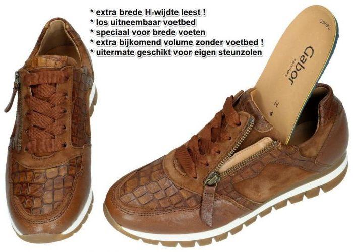 Gabor 76.438.35 sneakers  cognac/caramel