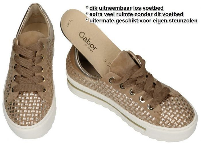 Gabor 66.499.30 sneakers  taupe