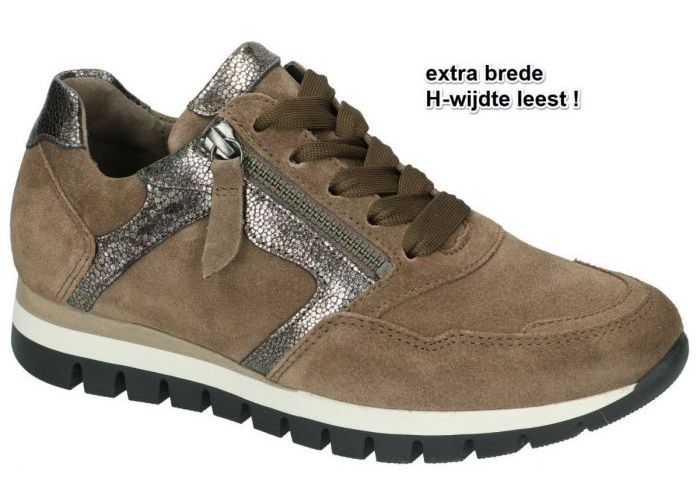 Gabor 76.438.30 sneakers  taupe donker