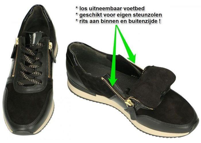 Gabor 73.420.37 sneakers  zwart