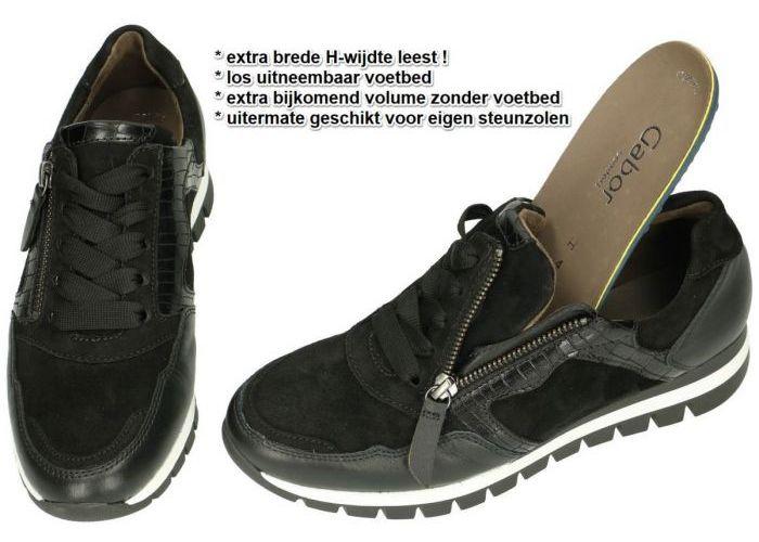 Gabor 76.438.67 sneakers  zwart