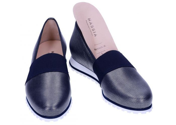 Hassia 6549 mocassins - loafers blauw donker