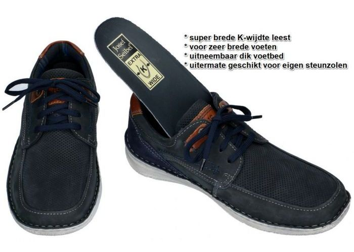 Josef Seibel 43629 TE21 ANVERS 75 casual schoenen blauw donker