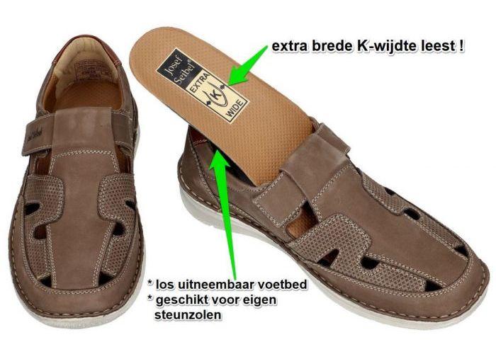 Josef Seibel 43635 ANVERS 81 sandalen taupe donker