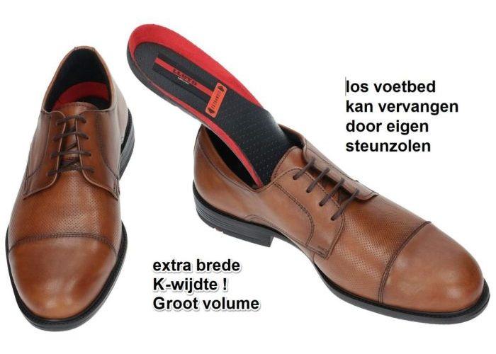 Lloyd 28-858-14 KAREL geklede lage schoenen cognac/caramel