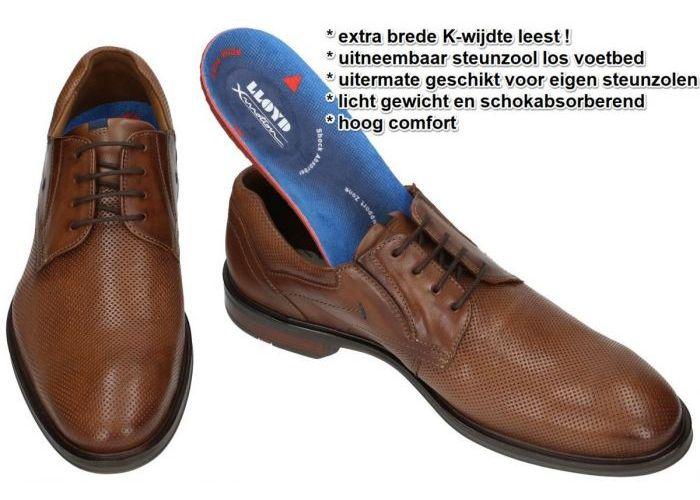 Lloyd KARAKUL 19-350-13 EXTRAWEIT geklede lage schoenen cognac/caramel