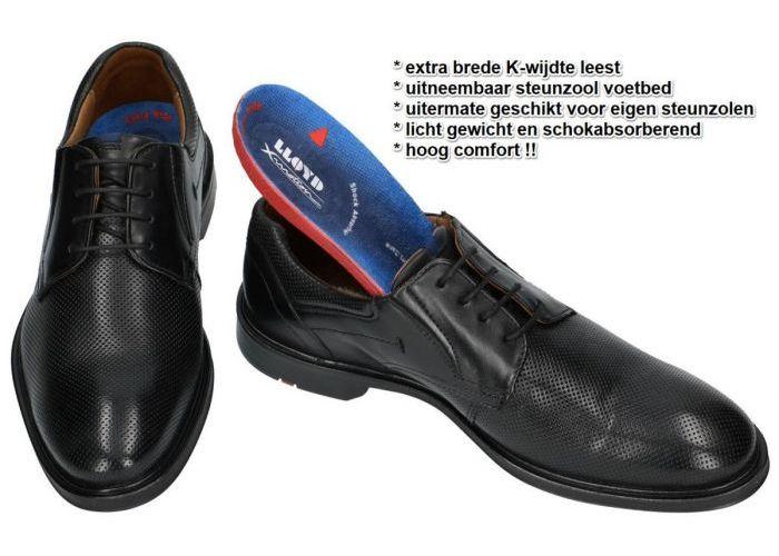 Lloyd KARAKUL 19-350-10 extraweit geklede lage schoenen zwart
