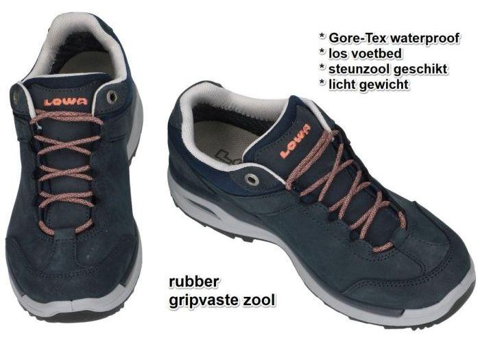 Lowa 320817 LOCARNO gtx lo Ws wandelschoenen blauw donker