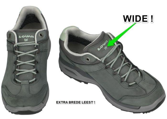 Lowa 320818 LOCARNO gtx lo Ws WIDE wandelschoenen grijs