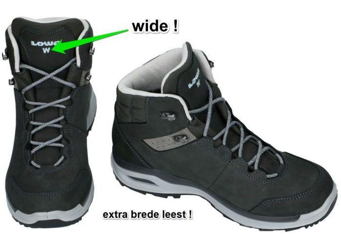 Lowa 320816 LOCARNO gtx qc Ws Wide wandelschoenen grijs  donker