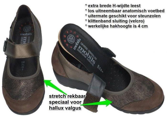 Mobils Ergonomic BATHILDA lage gesloten schoenen bruin donker