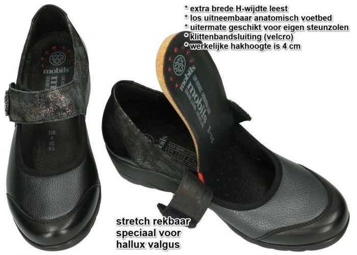 Mobils Ergonomic BATHILDA lage gesloten schoenen zwart