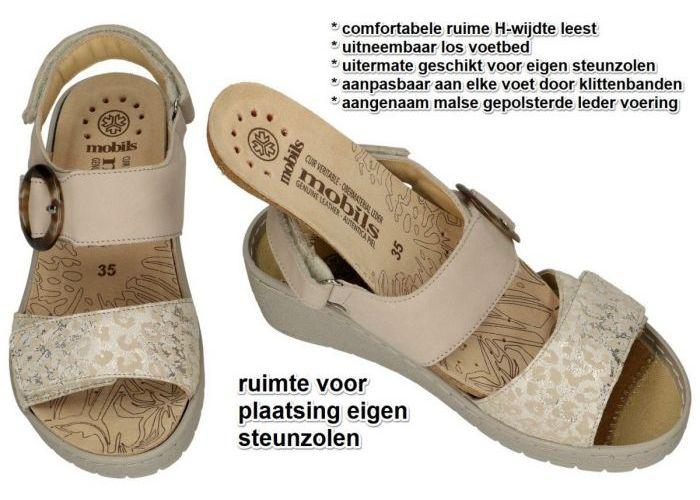 Mobils Ergonomic PHELICIA sandalen beige