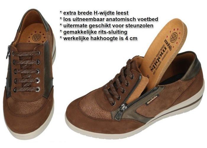 Mobils Ergonomic PATRIZIA sneakers  bruin