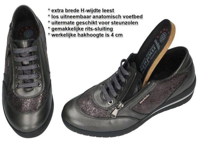 Mobils Ergonomic PATRIZIA sneakers  grijs  donker