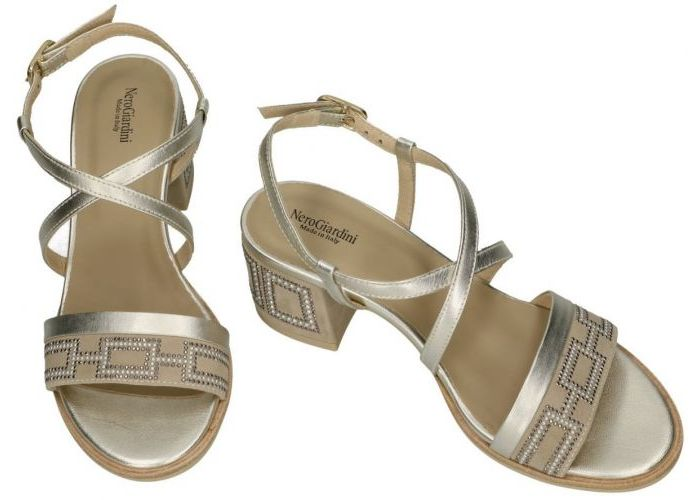 Nero Giardini E012262D sandalen goud