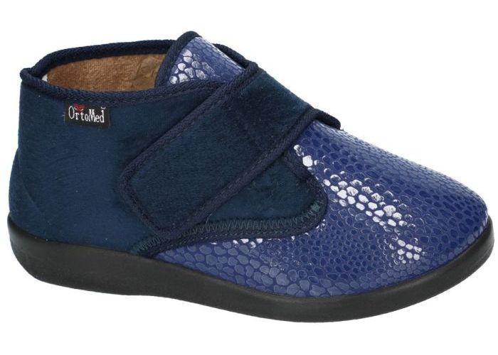 Damesschoenen Ortomed PANTOFFELS 6011 S29/T37L ladies slippers Blauw