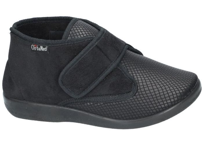 Damesschoenen Ortomed PANTOFFELS 6011 S05-T44-PU lady slippers Zwart