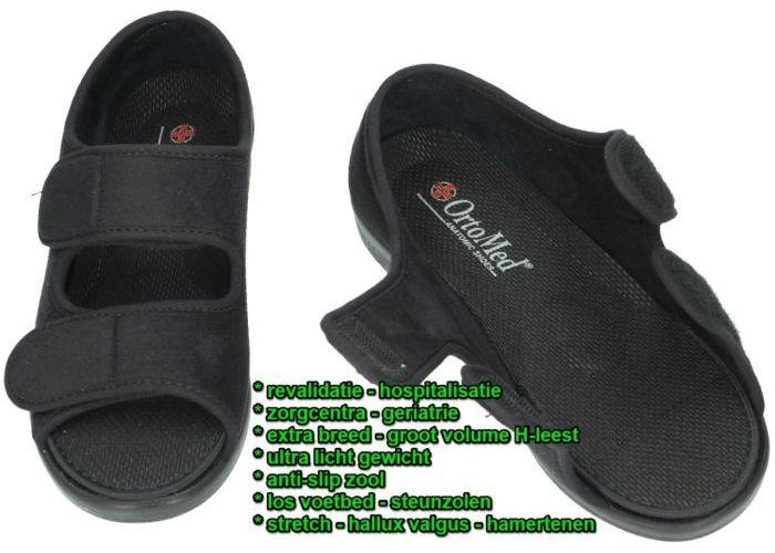Ortomed 513 T44-PU-Q99 sandalen zwart