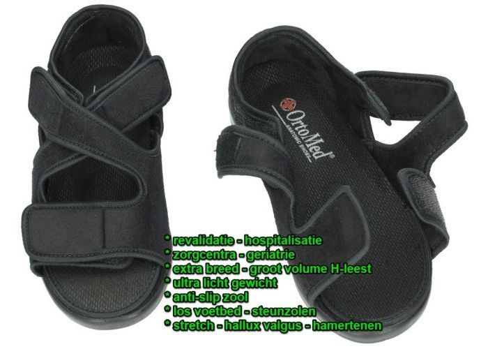 Ortomed 9112 sandalen zwart