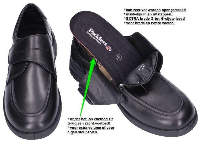 Padders SOLAR 635N10 geklede lage schoenen zwart